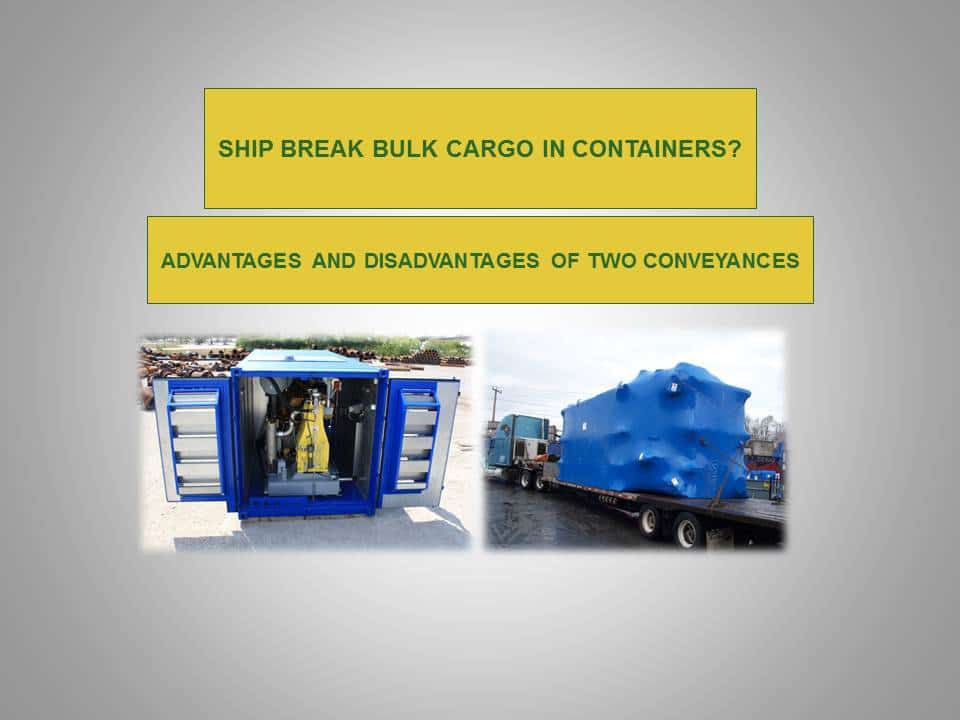 break bulk - break bulk cargo