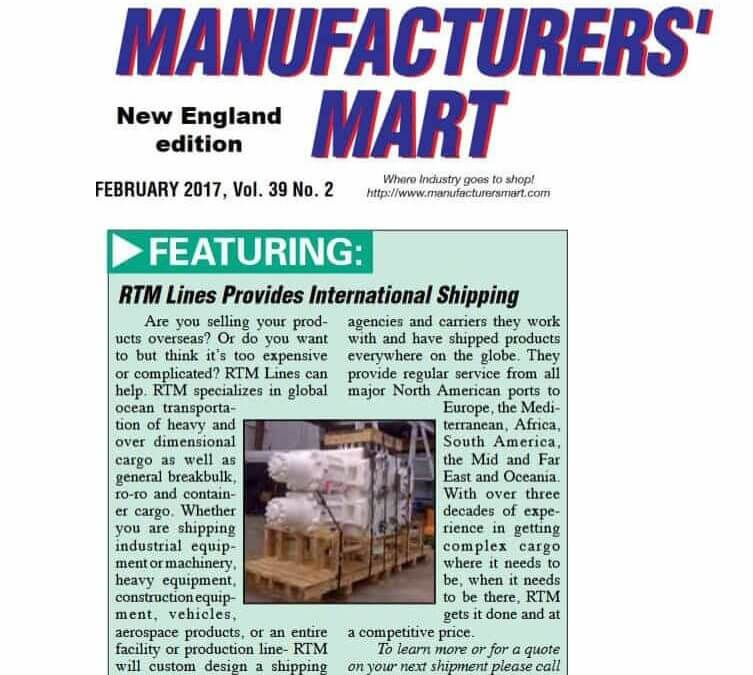 Manufacturers' Mart Features RTM Lines on Page 1!